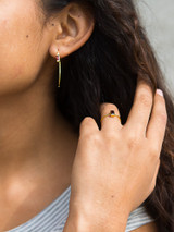 Small gold ring with garnet stone | Fair Anita