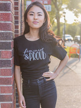 feminist and proud tshirt   Fair Anita