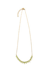 green stone dainty necklace brass | Fair Anita