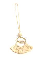 neutral fringe statement necklace | Fair Anita