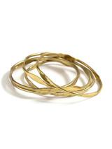 Textured Gold Bangle Set | Fair Anita
