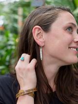 White Clay Drop Earrings | Fair Anita