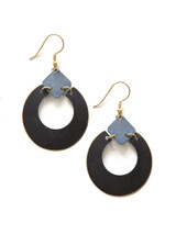 Neutral Painted Loop Earring | Fair Anita