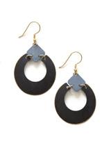 Neutral Painted Loop Earring | Fair Anita