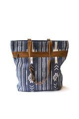 Blue and White Patterned Purse | Fair Anita