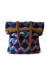 Multi-color geometric tote | Fair Anita