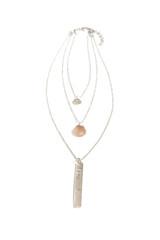 silver triple layered convertible necklace | Fair Anita