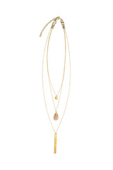 easy convertible layered necklace in brass  | Fair Anita
