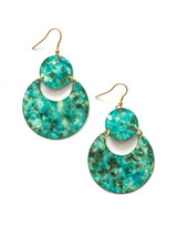 Painted Blue and Teal Earrings | Fair Anita
