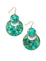 Painted Blue and Teal Earrings | Fair Anita