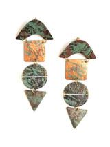 Statement painted patina earrings | Fair Anita