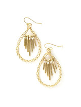 beaded brass teardrop earring | Fair Anita