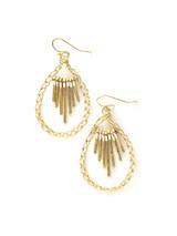 beaded brass teardrop earring | Fair Anita