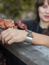 leather wrap chunky bracelet silver | Fair Anita
