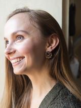 leather knot stud earring | Fair Anita