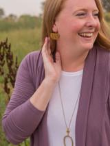 half circle brass drop earrings | Fair Anita
