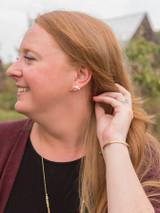 boomerang studs earrings brass | Fair Anita