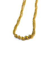 brass beaded bombshell necklace   Fair Anita