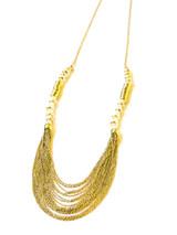 art deco many strands brass necklace   Fair Anita