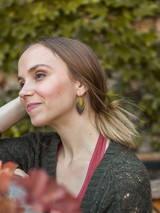 oval disc autumn earrings | Fair Anita