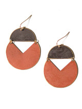 earth tone brass geometric earrings | Fair Anita