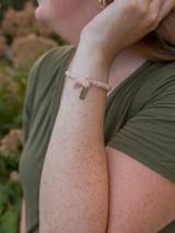 pink beaded elastic bracelet for mother's day | Fair Anita