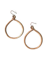 Hammered copper hoop earrings | Fair Anita