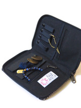 Ethically made  jewelry travel case blue| Fair Anita