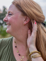 small ethically-made gold hoops | Fair Anita