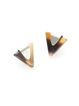 eco-friendly triangle studs | Fair Anita