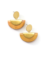 woods and brass half moon earrings | Fair Anita