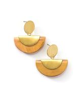 woods and brass half moon earrings | Fair Anita