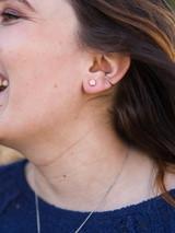 Little fair trade copper stud earrings | Fair Anita