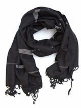 Black and white fair trade scarf | Fair Anita
