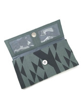 Blue patterned clutch wallet | Fair Anita