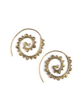 Fair trade spiral earrings | Fair Anita