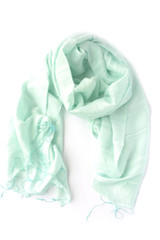 Striped mint fair trade scarf | Fair Anita