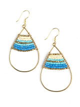 Big beaded blue earrings | Fair Anita