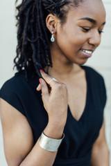Sterling silver and aqua stone earrings | Fair Anita