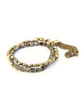 Dark Charm Bracelet Stack