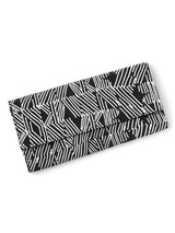 Black and white patterned clutch wallet | Fair Anita