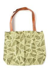 Green and white patterned tote bag   Fair Antia