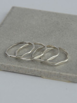Thin sterling silver stacking rings | Fair Anita