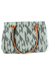 Blue patterned fair trade purse