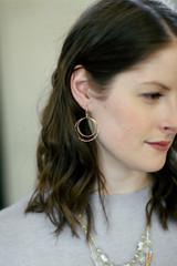 Lightweight circle earrings in brass   Fair Anita