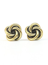 Knotted Stud Earrings - Gold