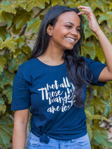 Not all those who wander are lost tshirt   Fair Anita