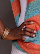 Fair trade leaf ring in silver | Fair Anita