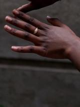 Fair trade leaf ring in brass | Fair Anita