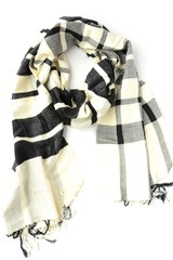 Cais Checkered Scarf - Black
